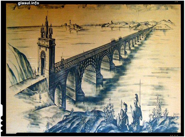 Podul lui Traian - Drobeta Turnu-Severin (reconstituire)