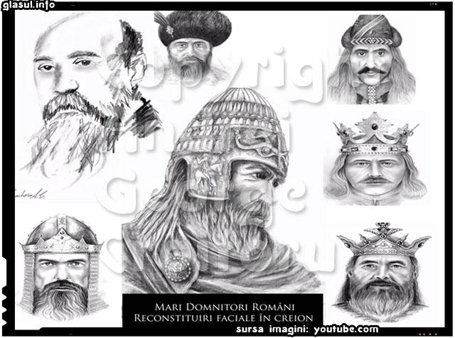 România în creion, un proiect de reconstituiri faciale in creion a marilor conducatori romani, sursa imagini: youtube.com