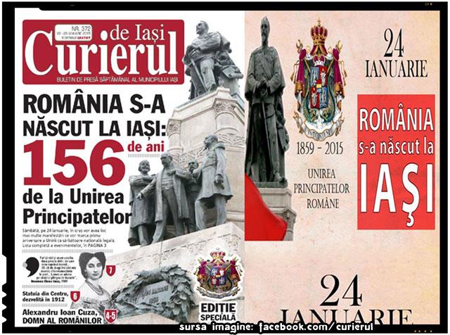 România s-a născut la Iaşi, sursa imagine: Curierul de Iasi