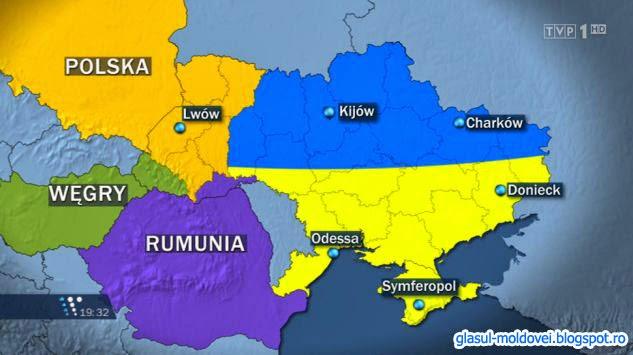 Rusia a trimis propuneri oficiale de impartire a Ucrainei intre Rusia , Polonia , Romania si Ungaria