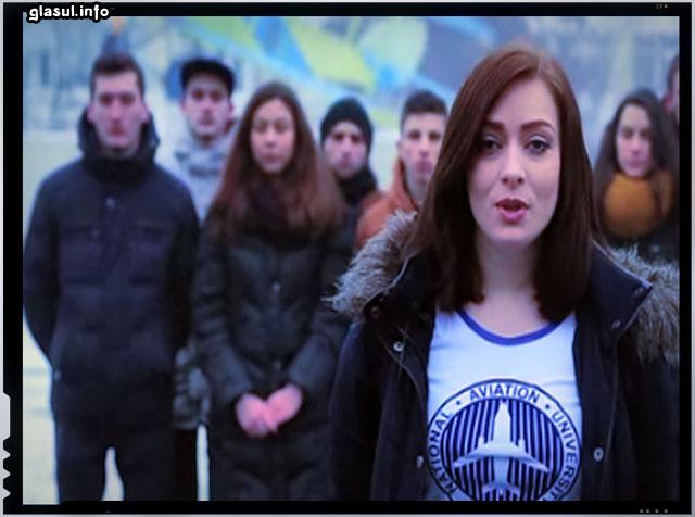"""(VIDEO) Studenţii din Ucraina se adresează tinerilor din Rusia: """"Să ne duelăm la olimpiade, nu în Donbas"""""""