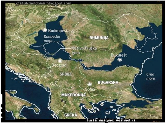 Ce s-ar întâmpla cu Romania si Republica Moldova dacă calotele glaciare s-ar topi?, sursa imagine: vestinet.rs