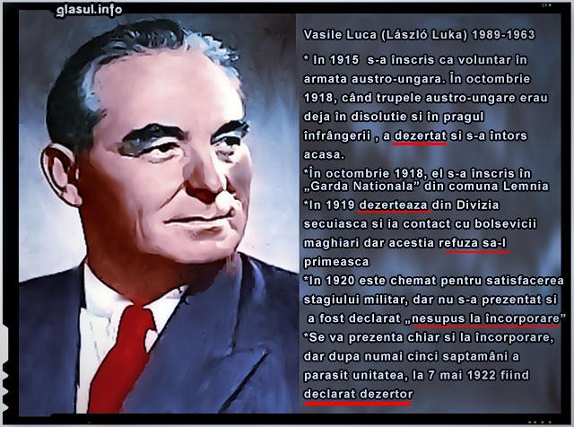 Vasile Luca, O antologie a tradarii