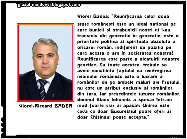 """Viorel Badea: """"Unirea cu Moldova, o prioritate politică și spirituală"""", sursa imagine: www.senat.ro"""