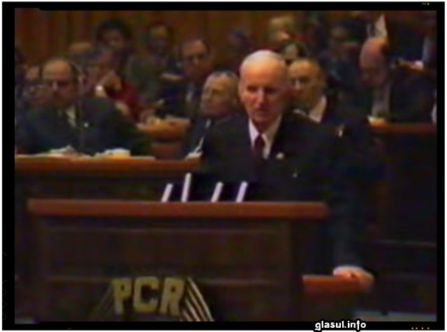 Un conflict de pomina in noiembrie 1979, in timpul Congresului al XII-lea al PCR intre vechiul comunist Constantin Parvulescu si Nicolae Ceausescu. VIDEO