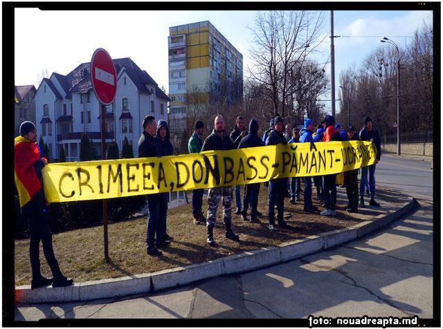 Protest împotriva marșului anti-maidan la Chișinău, foto: nouadreapta.md