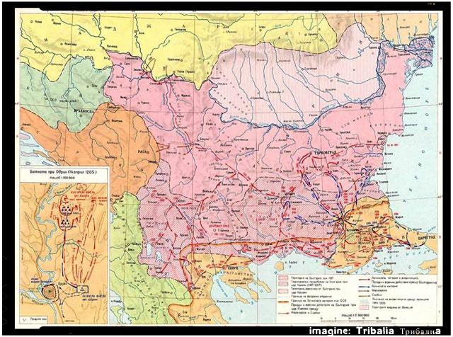 Țaratul româno-bulgar în timpul domniei țarului Ioniță Caloian (1197-1207), foto: facebook.com/pages/Tribalia