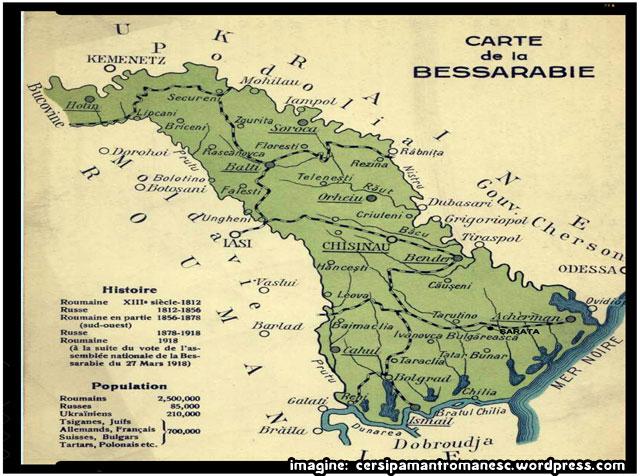 Ideea naţională romana în Basarabia Ţaristă (1812-1918), imagine: cersipamantromanesc.wordpress.com