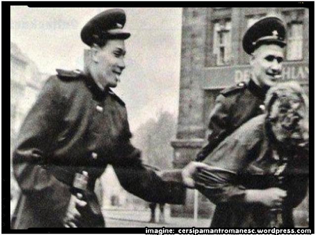 """Soldaţii sovietici """"eliberatori"""" şi violurile in masă. Gândacii de Colorado violatori!, foto : cersipamantromanesc.wordpress.com"""