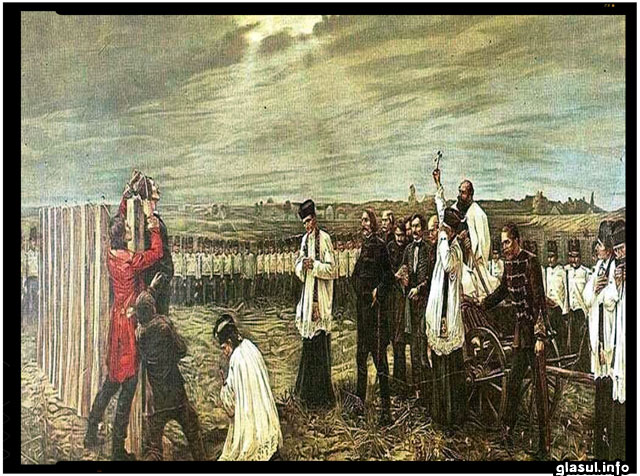 Executia celor 13 criminali, pictura de János Thorma