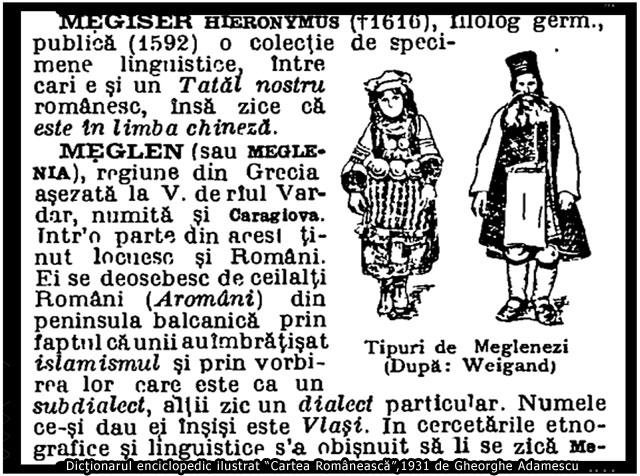 Tipuri de Meglenenzi (După: Weigand), foto: facebook.com/meglenoromanii