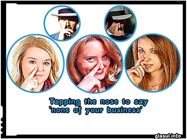 None of your business, nu este treaba ta, gest intalnit in lumea interlopa, a mafiotilor