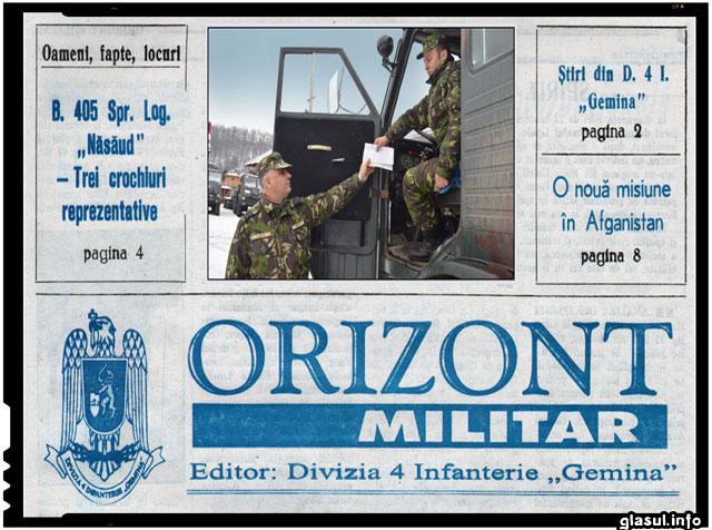 """S-au implinit 67 de ani de la înfiinţarea ziarului """"Orizont militar"""", periodic al Diviziei 4 Infanterie """"GEMINA"""""""
