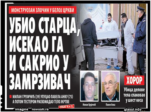 Pavel Anca, 65 de ani, ucis cu focuri de arma si apoi macelarit si transat in mai multe segmente