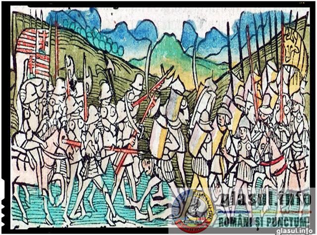 Ștefan cel Mare, fondatorul ... Securității!, Regatul Ungariei împotriva steagului moldovean în bătălie