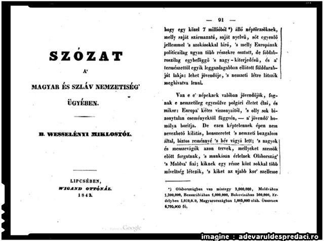 DEZVĂLUIRI: Ungaria avea un milion de vlahi în sec. XIX. Azi ar trebui să aibă 2-3 milioane de cetățeni cu rădăcini românești, din păcate maghiarizați – Adică vreo 25% din populația actuală a Ungariei., imagine: adevaruldespredaci.ro