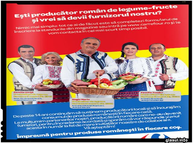 Carrefour Romania continua promovarea producatorilor romani de legume si fructe