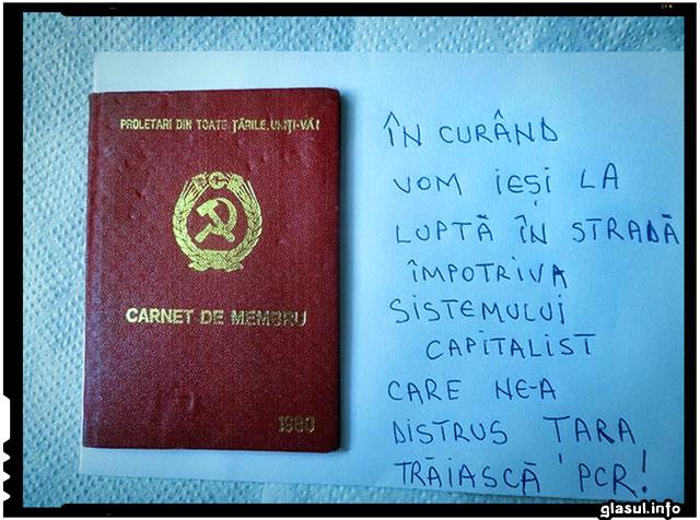 Atentie! Comunismul are tendinte de a reinvia in Romania! NU, nu este vorba de Ponta!, sursa foto: facebook.com/draza.ruma