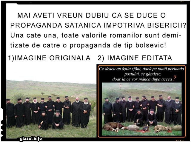 Propaganda anticrestina continua! Cuiburi cominterniste folosesc orice mijloace murdare pentru a denigra crestinismul!