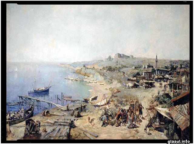 "Istoria secreta: stiati ca Odesa (Hadjibei) este o cetate construita de valahi? - Ladyzhenskii GA ""Hadzhibey."" 1899. Oil on canvas. Odessa Art Museum"