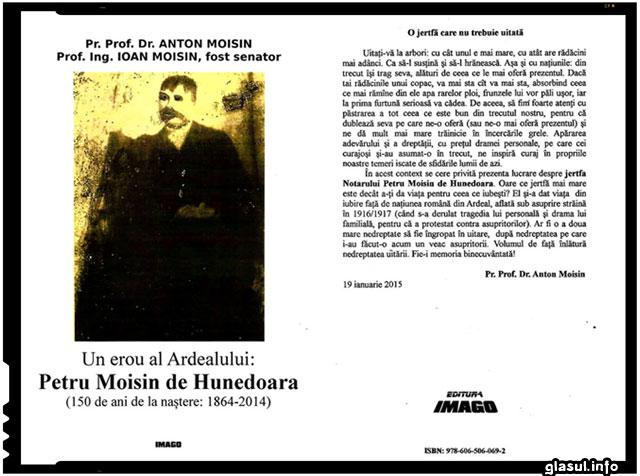 Un erou al Ardealului: Petru Moisin de Hunedoara , foto: Ioan Moisin