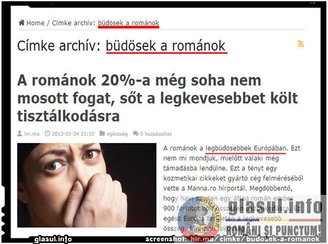"Ungurii despre romani: ""Sunt imputitii Europei!"", sursa : screenshot hir.ma"