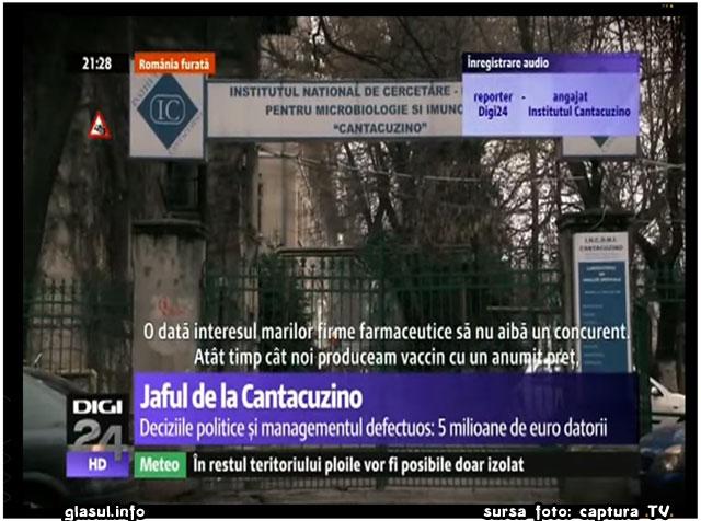 Cine vrea distrugerea Institutului Cantacuzino? Ce nu vor sa arate televiziunile despre vaccinuri?