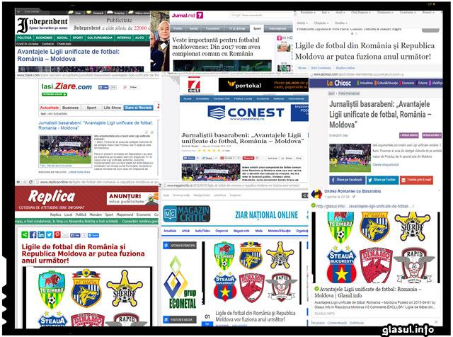 Revista presei - Pacaleala de 1 Aprilie pe care multi si-ar fi dorit sa fie un adevar - Ligile de fotbal din Romania si Republica Moldova unificate