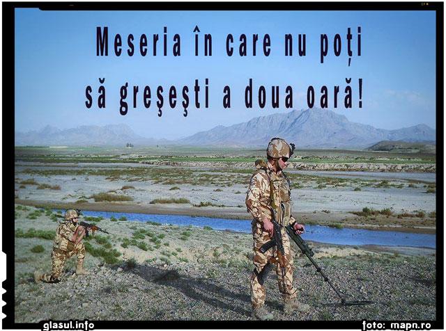 Meseria in care nu poti sa gresesti a doua oara!, sursa foto: www.mapn.ro