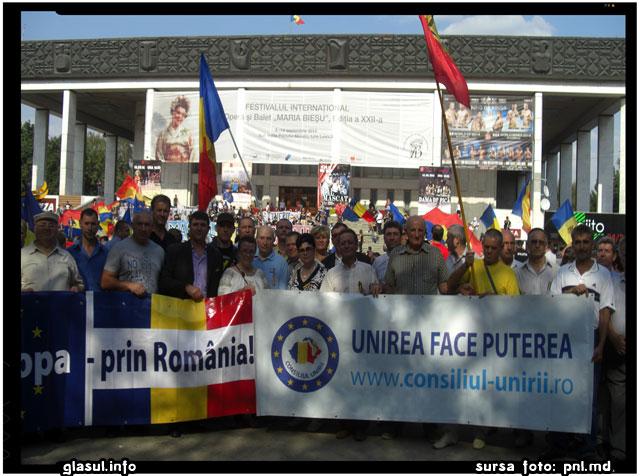 PNL, impreuna cu alte componente ale Consiliului Unirii, participa la actiunea de protest de la 5 aprilie 2015, sursa foto: pnl.md