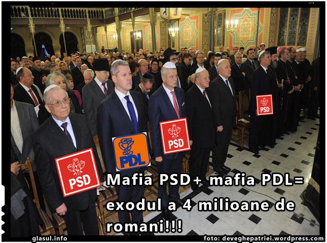 Mafiile PSD si PDL au provocat exodul a peste 4 milioane de romani, foto: deveghepatriei.wordpress.com