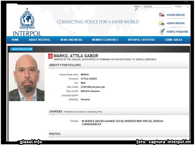 Marko Attila, parlamentarul UDMR-ist fugar, a fost dat in urmarire generala de catre INTERPOL