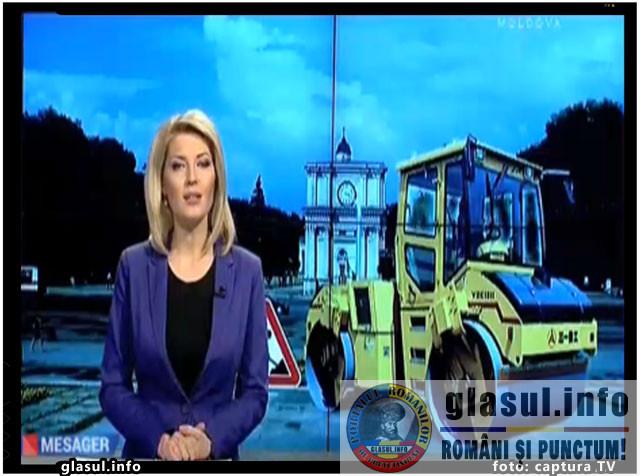 Prorusii din Republica Moldova il acuza primarul Chisinaului ca a demarat lucrarile de reabilitare a Bulevardului Stefan cel Mare si Sfant din Chisinau pentru a impiedica sarbatorirea Zilei Rusiei in PMAN, foto: captura TV Moldova 1