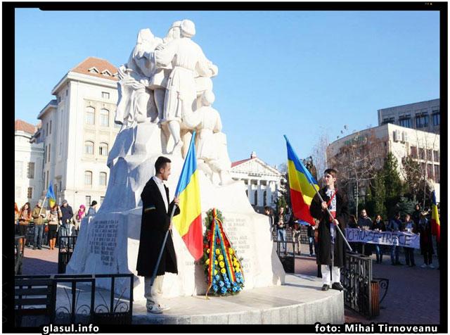 """Liga Studenţilor din Universitatea """"Alexandru Ioan Cuza"""" din Iaşi respecta valorile nationale romanesti, foto: Mihai Tirnoveanu"""