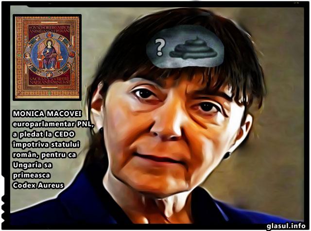 """Monica Macovei, europarlamentar """"roman"""", a pledat la CEDO împotriva statului român, favorizand Ungaria pentru a primi Codex Aureus"""