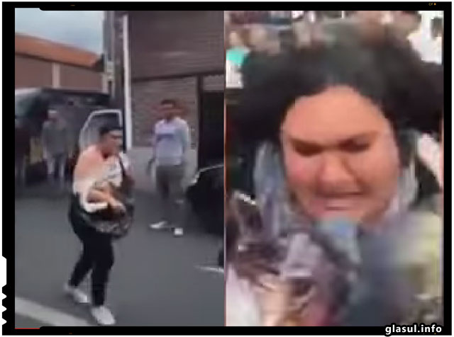 Trei tiganci din Romania au fost prinse la furat la Paris si batute de chinezi, foto: captura video