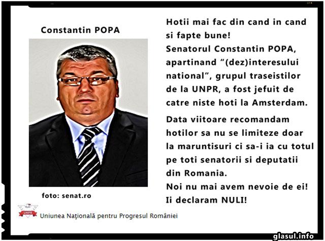 Hotii mai fac si fapte bune! Un senator roman a fost jefuit la Amsterdam., foto: senat.ro