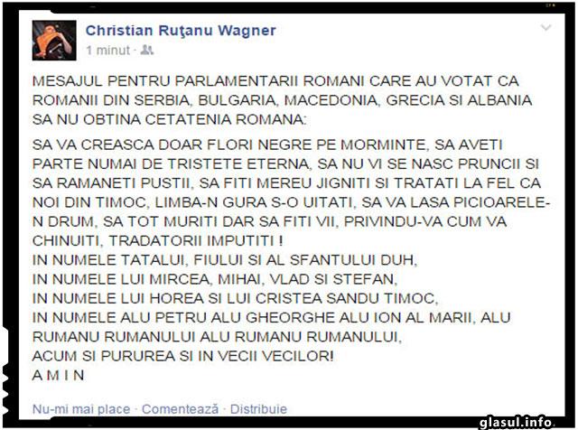Mesaj din partea romanilor din jurul granitelor Romaniei pentru parlamentarii romani!
