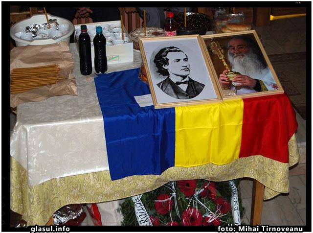 """Eminescu, pomenit în Duminica Sfinţilor Români, la Biserica """"Înălţarea Domnului"""" din Voineşti Covasna, foto: Mariana Ghiugan"""