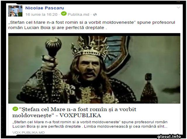 """""""Stefan cel Mare n-a fost romin si a vorbit moldoveneste"""" spune profesorul romăn Lucian Boia și are perfectă dreptate ."""