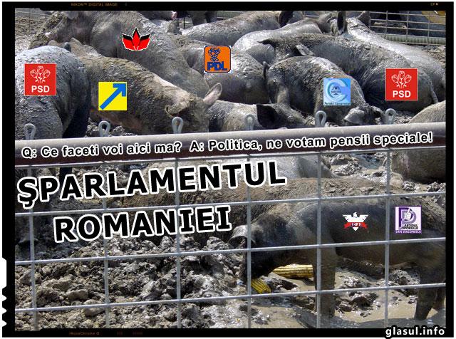 Mare porcarie! Peste 300 de parlamentari si-au votat marirea pensiilor
