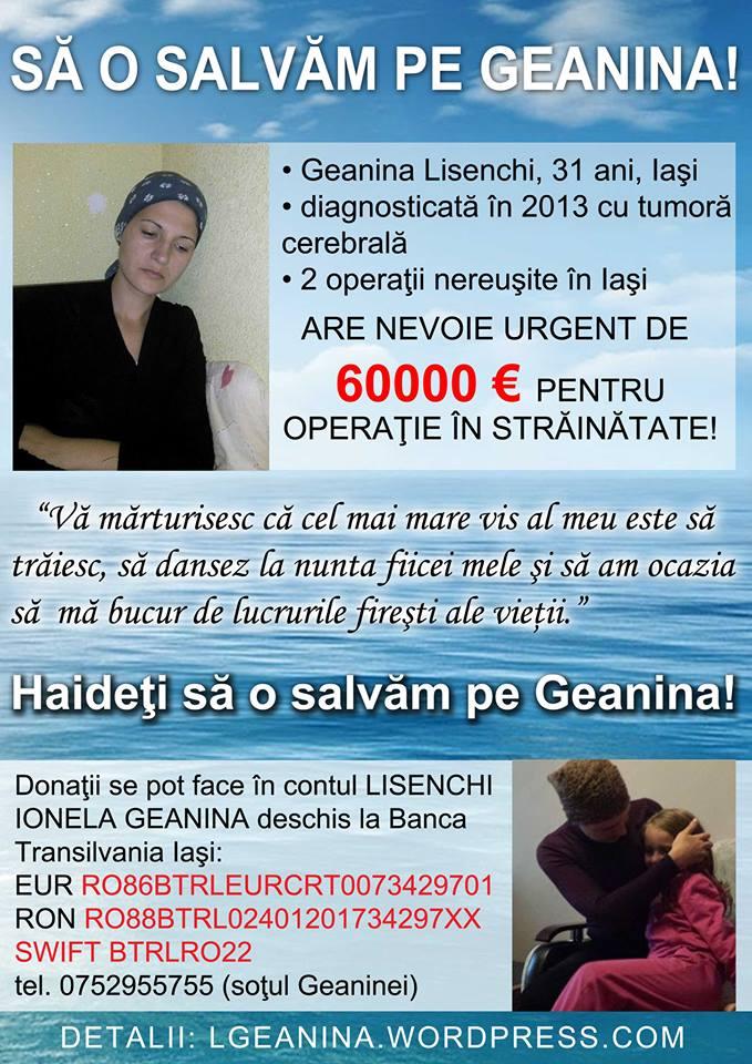 """Caz umanitar: """"Geanina, o tanara mamica din Iasi, are nevoie de ajutorul tau!"""""""