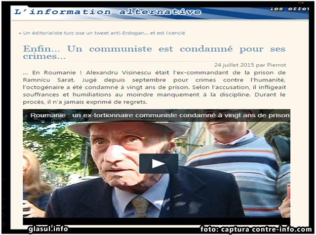 Ecourile condamnarii lui Visinescu in presa straina, foto: captura contre-info.com