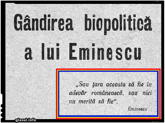 Eminescu, urias al romanismului