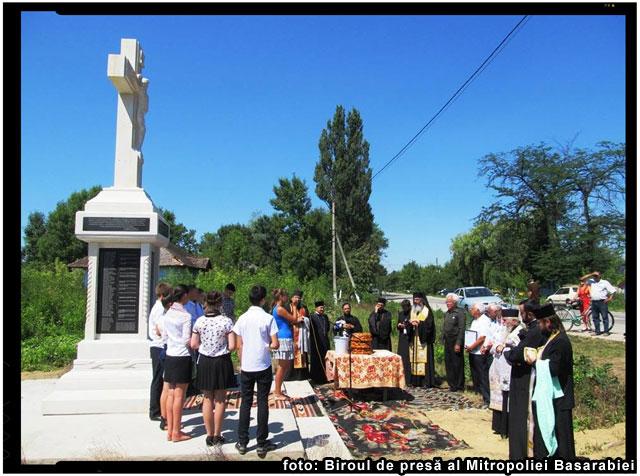 Monument ridicat in memoria victimelor represiunilor regimului totalitar comunist, foto: Biroul de presă al Mitropoliei Basarabiei