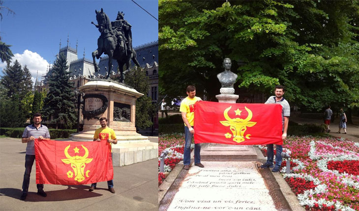 Moldovenistii au facut propaganda antiromaneasca la Iasi, foto: facebook.com/ivan.muntean