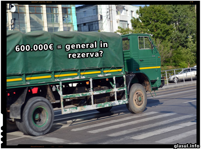 Cu 600.000 de Euro poti deveni general in rezerva in Romania!