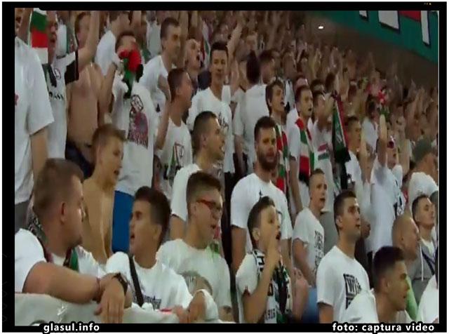 Sovinism si xenofobie la meciul de fotbal dintre Legia si Botosani, foto: captura video