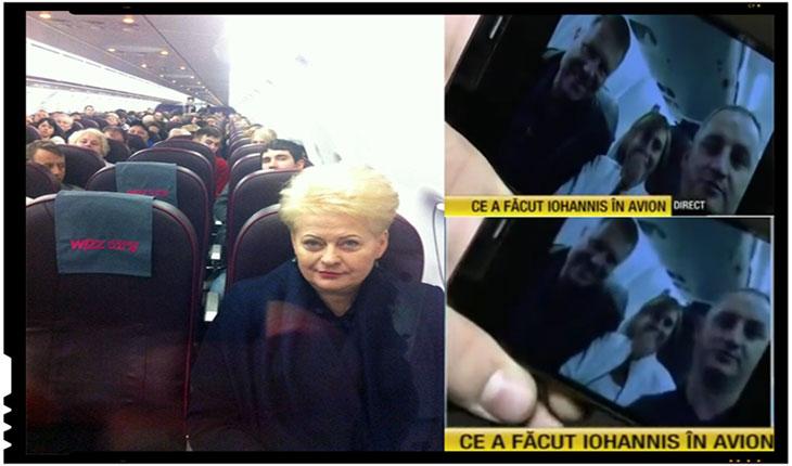 Presedintele Lituaniei, Dalia Grybauskaite, calatoreste ca un simplu cetatean cu avionul companiei low cost Wizz Air