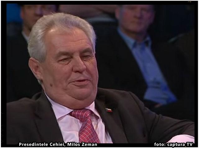 """Presedintele Cehiei, Milos Zeman, catre imigranti: """"Nimeni nu v-a invitat. Aici respectati regulile noastre!"""", foto: captura TV"""